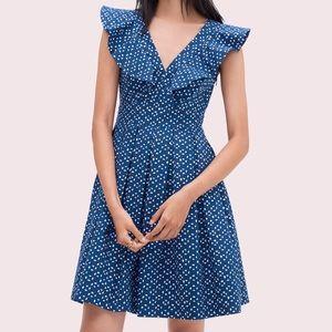 Kate Spade geo dot poplin dress